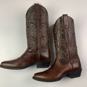 Ariat Leather Cowboy Boots Size 9D